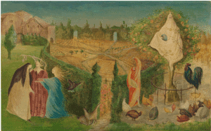 The Kitchen Garden on the Eyot (1946) by Leonora Carrington