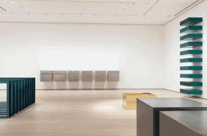 Installation view of Judd, The Museum of Modern Art, New York