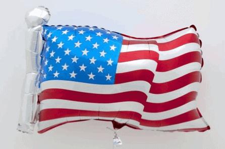 Jeff Koons, Flag (2020) in David Zwirner