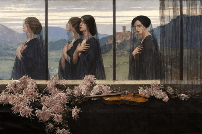 Four Strings of a Violin,(1914) by Edward Okuń
