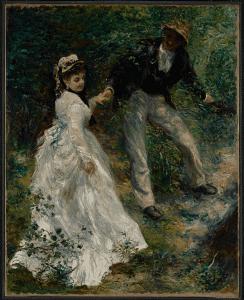 La Promenade(1870) by Pierre-Auguste Renoir