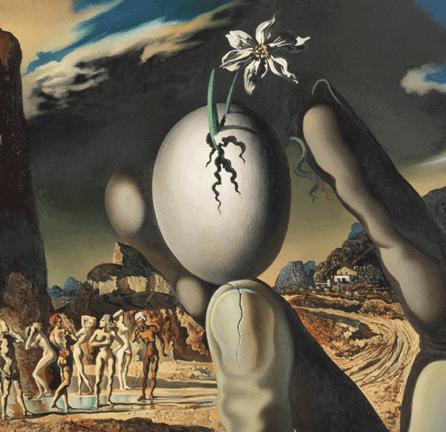 """""""Metamorphosis of Narcissus"""" (detail), Salvador Dalí, 1937"""