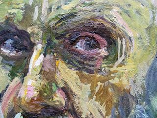 Texture detail created by the Atl Color in Self-portrait (1935)