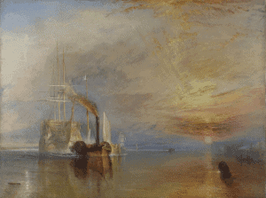 The Fighting Temeraire, Tugged To Her Last Berth To Be Broken Up (1838) by J. M. W. Turner