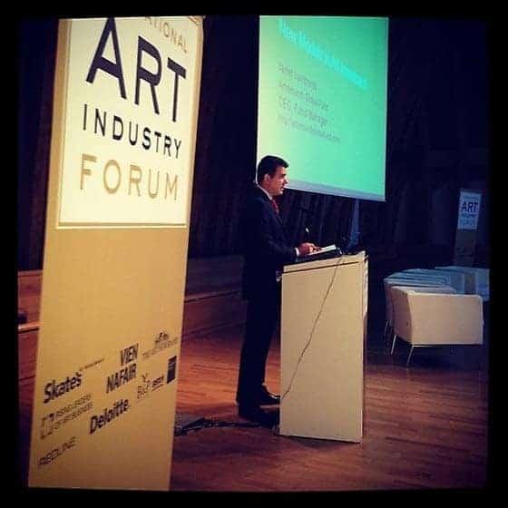 Success at the International Art Industry Forum in Vienna,  September 2012