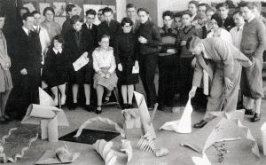 Josef Albers in the Bauhaus, 1929.