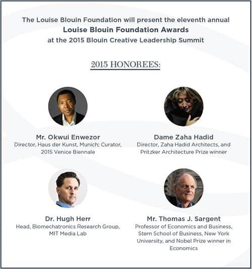 Blouin Creative Leadership Summit, September 2015