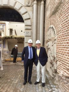 Javier Lumbreras, Founder of Fundación Lumbreras - Colección Adrastus and Philipe de Montebello,Chairman of the Hispanic Society's Board of Trustees at COLLEGIUM, Arévalo, Spain.