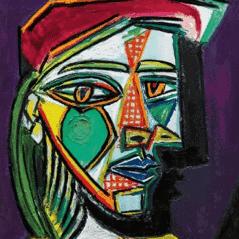 Pablo Picasso, Femme Au Béret et á la Robe Quadrillée