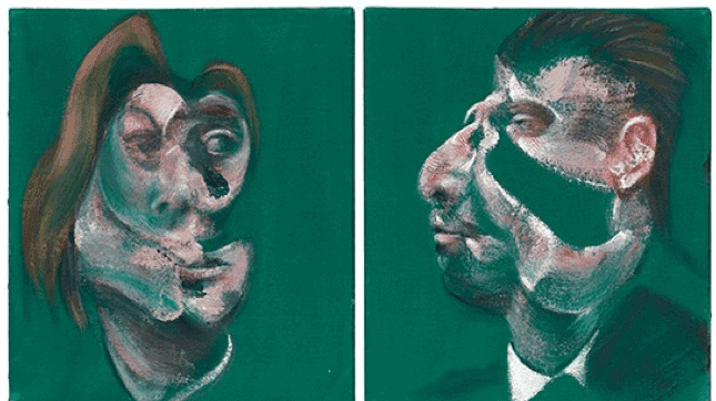 """""""Study for Head of Isabel Rawsthorne and George Dyer"""" (1967) by Francis Bacon"""