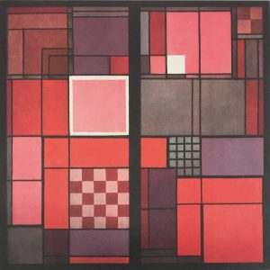 Gropius's window of the Bauhaus main building in Weimar, 1923